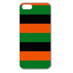 Color Green Orange Black Apple Seamless Iphone 5 Case (clear) by Mariart