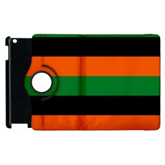 Color Green Orange Black Apple Ipad 3/4 Flip 360 Case by Mariart