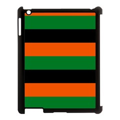 Color Green Orange Black Apple Ipad 3/4 Case (black) by Mariart