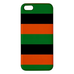 Color Green Orange Black Iphone 5s/ Se Premium Hardshell Case by Mariart