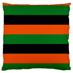 Color Green Orange Black Large Flano Cushion Case (two Sides)