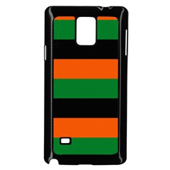 Color Green Orange Black Samsung Galaxy Note 4 Case (black) by Mariart