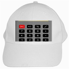 Calculator White Cap by Mariart