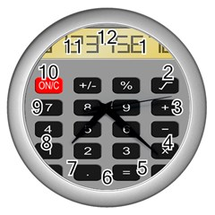 Calculator Wall Clocks (silver)  by Mariart