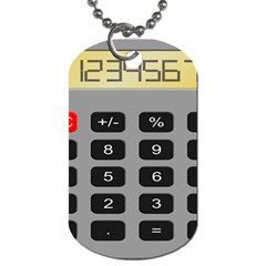 Calculator Dog Tag (two Sides) by Mariart