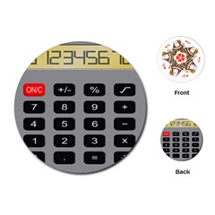 Calculator Playing Cards (round)  by Mariart