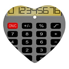 Calculator Heart Ornament (two Sides) by Mariart