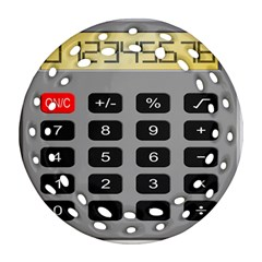 Calculator Round Filigree Ornament (two Sides) by Mariart