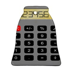 Calculator Bell Ornament (two Sides) by Mariart