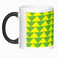 Arrow Triangle Green Yellow Morph Mugs by Mariart