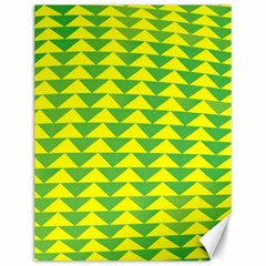 Arrow Triangle Green Yellow Canvas 12  X 16   by Mariart