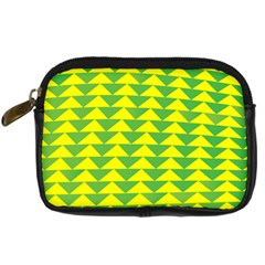 Arrow Triangle Green Yellow Digital Camera Cases by Mariart