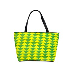Arrow Triangle Green Yellow Shoulder Handbags by Mariart