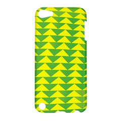 Arrow Triangle Green Yellow Apple Ipod Touch 5 Hardshell Case by Mariart
