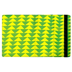 Arrow Triangle Green Yellow Apple Ipad 2 Flip Case by Mariart