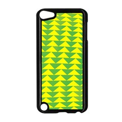 Arrow Triangle Green Yellow Apple Ipod Touch 5 Case (black) by Mariart