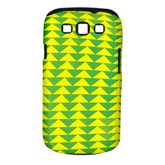 Arrow Triangle Green Yellow Samsung Galaxy S Iii Classic Hardshell Case (pc+silicone) by Mariart