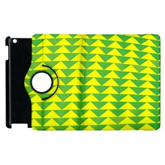 Arrow Triangle Green Yellow Apple Ipad 3/4 Flip 360 Case by Mariart