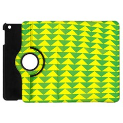 Arrow Triangle Green Yellow Apple Ipad Mini Flip 360 Case by Mariart