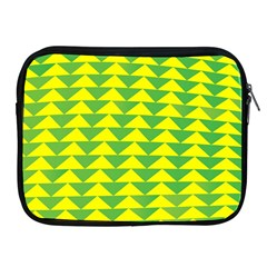Arrow Triangle Green Yellow Apple Ipad 2/3/4 Zipper Cases by Mariart