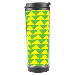 Arrow Triangle Green Yellow Travel Tumbler by Mariart