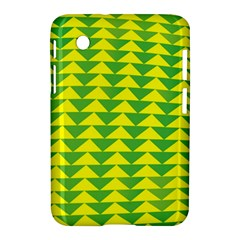 Arrow Triangle Green Yellow Samsung Galaxy Tab 2 (7 ) P3100 Hardshell Case  by Mariart