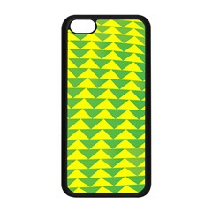 Arrow Triangle Green Yellow Apple Iphone 5c Seamless Case (black) by Mariart