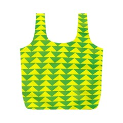 Arrow Triangle Green Yellow Full Print Recycle Bags (m)  by Mariart