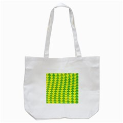 Arrow Triangle Green Yellow Tote Bag (white) by Mariart