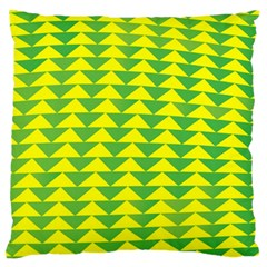 Arrow Triangle Green Yellow Large Flano Cushion Case (two Sides)