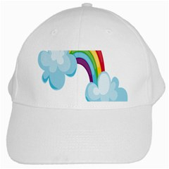 Could Rainbow Red Yellow Green Blue Purple White Cap by Mariart