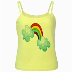 Could Rainbow Red Yellow Green Blue Purple Yellow Spaghetti Tank by Mariart