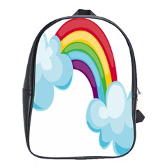 Could Rainbow Red Yellow Green Blue Purple School Bags(large)