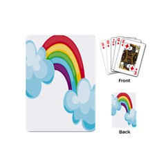 Could Rainbow Red Yellow Green Blue Purple Playing Cards (mini)  by Mariart
