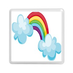 Could Rainbow Red Yellow Green Blue Purple Memory Card Reader (square)  by Mariart