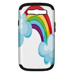 Could Rainbow Red Yellow Green Blue Purple Samsung Galaxy S Iii Hardshell Case (pc+silicone) by Mariart