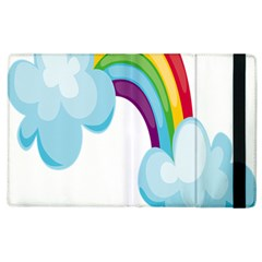 Could Rainbow Red Yellow Green Blue Purple Apple Ipad 3/4 Flip Case by Mariart