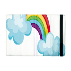 Could Rainbow Red Yellow Green Blue Purple Apple Ipad Mini Flip Case by Mariart