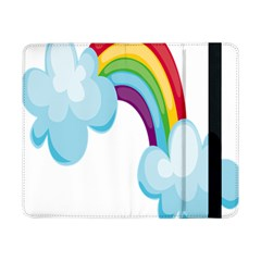 Could Rainbow Red Yellow Green Blue Purple Samsung Galaxy Tab Pro 8 4  Flip Case by Mariart