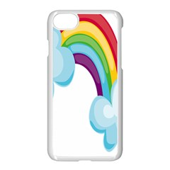 Could Rainbow Red Yellow Green Blue Purple Apple Iphone 7 Seamless Case (white) by Mariart