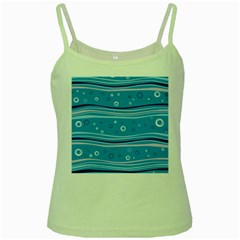 Blue Circle Line Waves Green Spaghetti Tank by Mariart