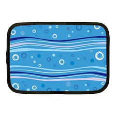 Blue Circle Line Waves Netbook Case (medium)  by Mariart