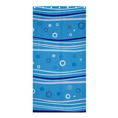 Blue Circle Line Waves Shower Curtain 36  X 72  (stall)  by Mariart