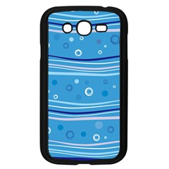 Blue Circle Line Waves Samsung Galaxy Grand Duos I9082 Case (black) by Mariart