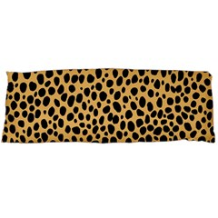 Cheetah Skin Spor Polka Dot Brown Black Dalmantion Body Pillow Case Dakimakura (two Sides) by Mariart