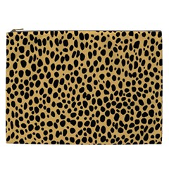 Cheetah Skin Spor Polka Dot Brown Black Dalmantion Cosmetic Bag (xxl)  by Mariart