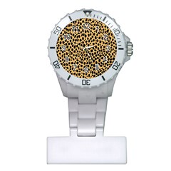 Cheetah Skin Spor Polka Dot Brown Black Dalmantion Plastic Nurses Watch by Mariart