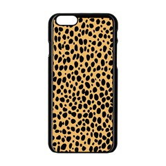 Cheetah Skin Spor Polka Dot Brown Black Dalmantion Apple Iphone 6/6s Black Enamel Case by Mariart