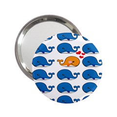 Fish Animals Whale Blue Orange Love 2 25  Handbag Mirrors by Mariart