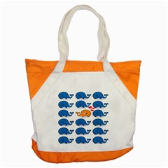 Fish Animals Whale Blue Orange Love Accent Tote Bag by Mariart